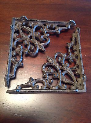 2 Cast Iron Heart Bracket Garden Shelf Brackets Brace