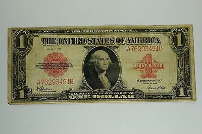 1923 LARGE $1 ONE DOLLAR UNITED STATES NOTE RED SEAL George Washington