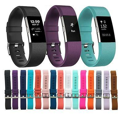 Luxury Silicone Band Strap Buckle For Fitbit Charge 2 Replacement Color