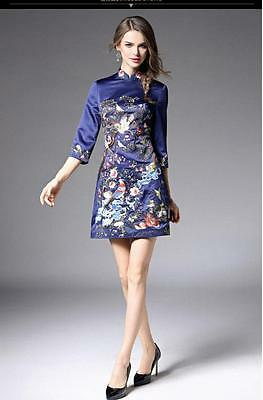New Style Slim Embroidery Women Dress Cheongsam For Wedding Party Ladies Gowns