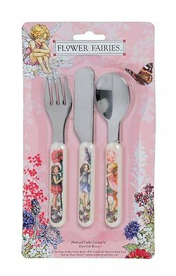 Flower Fairies - 3 Piece Melamine Handled Cutlery Set - Knife/Fork/Spoon