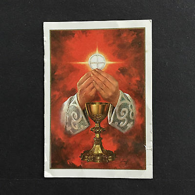 Vintage  French Holy Card Eucharist A spiritual bouquet