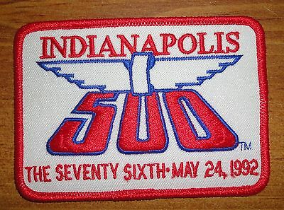 Vtg 1992 Indianapolis 500 Event PATCH Indy 500 racing USAC Al Unser Jr