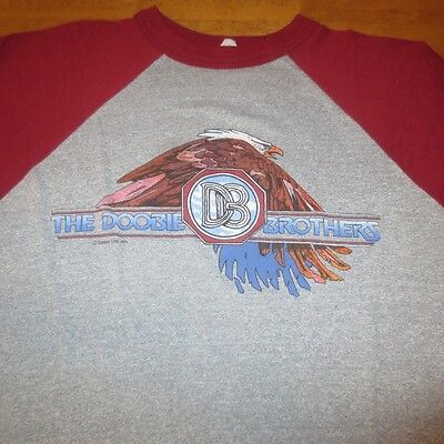 Vtg 70S 1974 The Doobie Brothers Soft Thin Concert Tour Jersey T Shirt Medium