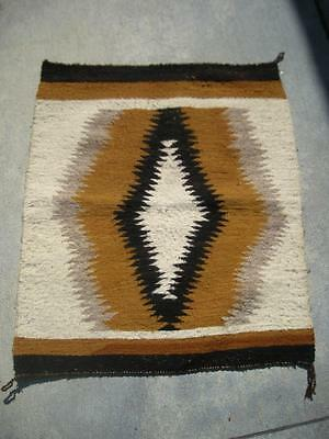 Vintage Navajo Indian Eyedazzler Sml Sized Crystal Trading Post Rug - Nice Cond!
