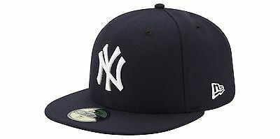 NEW YORK YANKEES Game New Era 5950 Navy MLB Cap Fitted NY On Field Hat Team Blue
