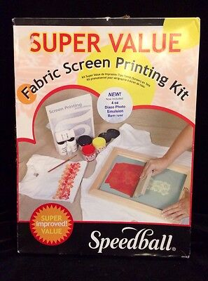 Speedball Super Value Fabric Screen Printing Kit Crafts Painting Drawing Art New