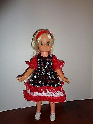 Pretty Holiday Dress  Outfit For Ideal Velvet Doll