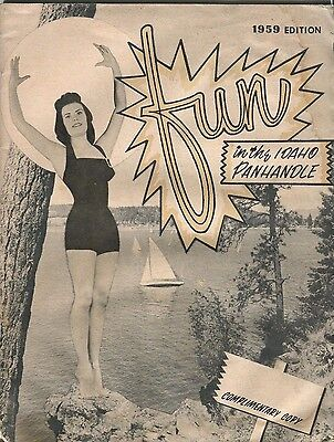 1959 Fun in the Idaho Panhandle Travel Travel Vacation Guide Book Brochure