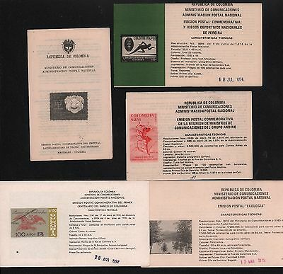 Colombia 1970-1975 Bulletin Expedition Theater Festival National Games Bank Tree