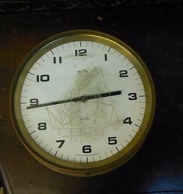INTRESTING  [folk art [ bulkhead brass clock with snibston colliery etching