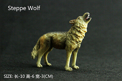 New Steppe Wolf Wild Animal Model Figurine Collectible Figure Kids Toy