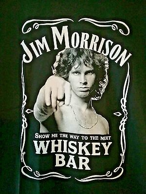 New Jim Morrison Of The Doors ( Jack Daniels Style) Whiskey Bar Black Graphic Sh
