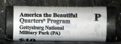 2011 P, ATB Gettysburg National Military Park(PA) Quarter Roll US Mint Certified
