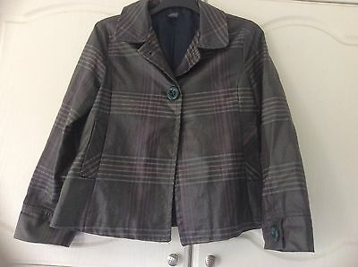 ZARA GIRLS GREEN BROWN CHECK  RAIN JACKET AGE 13 - 14 YEARS 164 cms
