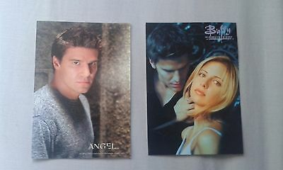 Buffy the Vampire Slayer postcards; Buffy and Angel together and Angel alone