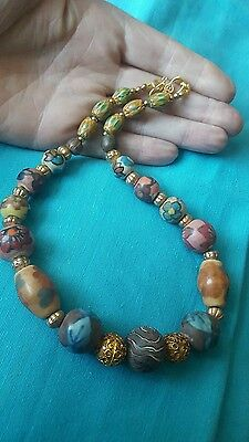 Beautifull Authentic African Gold Over Silver Beads