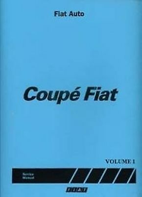 FIAT Coupe Shop manual Shop manual 3 very large volumes for Catalogue Book Paper