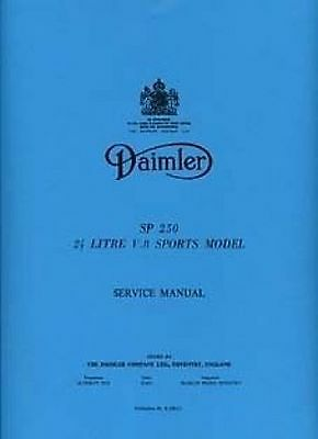 DAIMLER Dart SP250 Shop Manual Book Catalogue paper