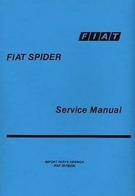 FIAT 124 Spider Car Shop manual Very large Catalogue Book Paper