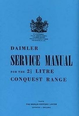 DAIMLER Conquest 2h Litre 1969 Shop Manual Book Catalogue paper