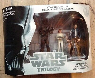 Star Wars Commemorative Trilogy DVD Collection HAN, LEIA & CHEWBACCA