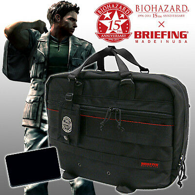 BIOHAZARD 15th Anniversary BRIEFING STARS BSAA Bag Briefcase Resident Evil Promo