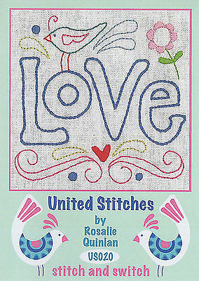 Rosalie Quinlan United Stitches US020 - Pre-printed Embroidery Linen