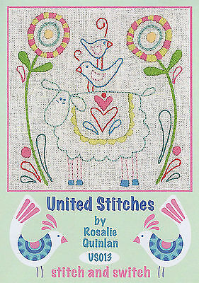 Rosalie Quinlan United Stitches US013 - Pre-printed Embroidery Linen