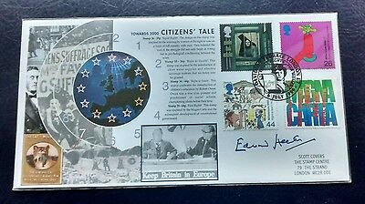 2000 Edward Heath Signed Citizens Tale Official Signed Scott FDC