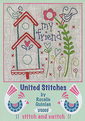 Rosalie Quinlan United Stitches US005 - Pre-printed Embroidery Linen