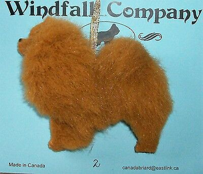 Red Chow Chow Dog Plush Christmas Canine Ornament # 2 by WC
