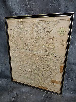A NICE LARGE GENUINE COUNTIES MAP OF SHROPSHIRE BY JOHN CARY c1790