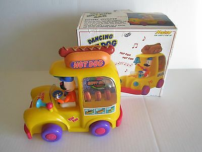 """1992 Metro Toy Dancing Truck Car Calls out """"Hot Dog""""  Music w/Box DOES NOT MOVE"""