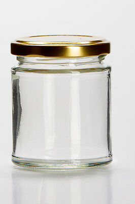 4 Quality 'Medium' Size Glass Jars With Lids. Ideal for making beautiful candles