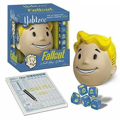 Yahtzee: Fallout Vault Boy Edition - Collector's Dice Cup Thinking Game NEW