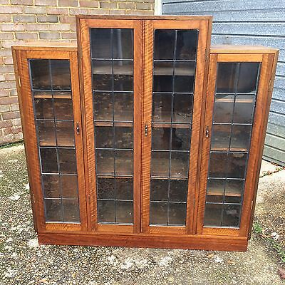 Good Quality Antique Walnut Library Bookcase