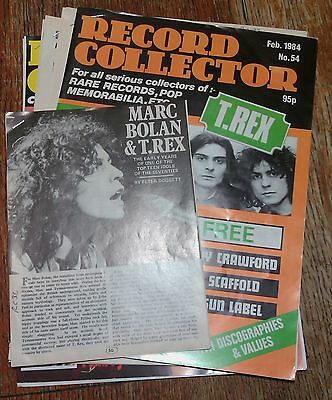 T REX MARC BOLAN Record Collector Articles part 2 (43 pages) Clippings Cuttings