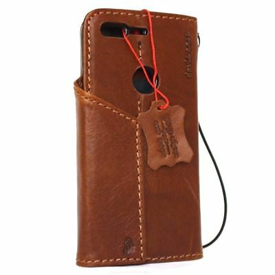 Genuine real vintage leather case for Google Pixel book wallet cover slim magnet