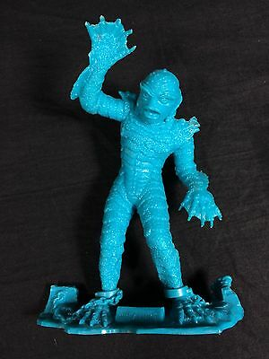"Vintage 1963 Marx Creature of the Black Lagoon 6"" Figure Teal Blue Plastic"
