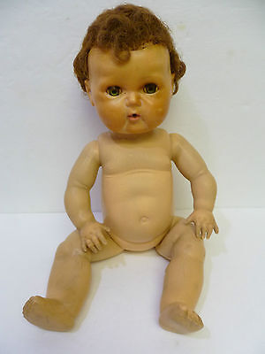 """Vintage 15"""" Tiny Tears American Character Baby Doll With Rubber Body Sold As-Is"""