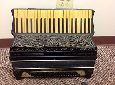 Unknown Student Accordion LM FOR REPAIR ONLY 1920s 1930s Black