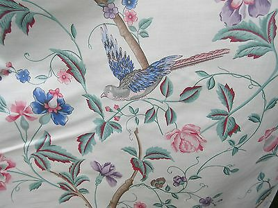 Vintage? 1989?  Laura Ashley Summer Palace chintz floral fabric 6yds+