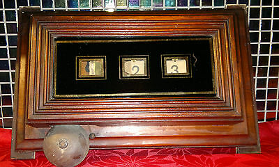 Antique Mahogany Edwardian Butlers Servants Bell Box 3 Window Room Indicator