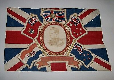 VINTAGE ROYAL ANTIQUE KING EDWARD V111, Vlll CORONATION FLAG. UNION JACK. 1936.