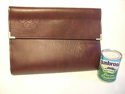 Rare Seoul 1988 Paralympic Large 5 x Section Embossed Wallet / Document Holder