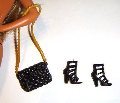 Barbie Doll Sized Accessories Shoes/Purse For Barbie Doll ac553
