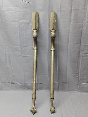 Antique Nickel Brass Marble Sink Legs Support Claw Foot Old Vtg Bathroom 2106-16