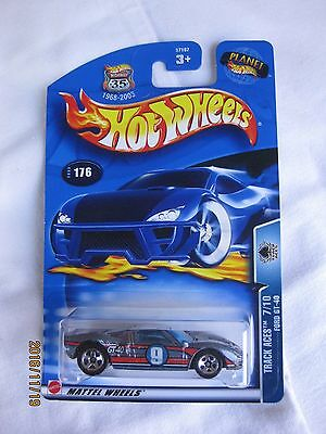 Hotwheels 2003 Track Aces Ford GT-40 Mint In Card