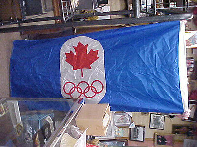 great old canadian olympic flag  looks to date from 1976